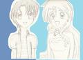 Hanon and Nagisa Uncolored