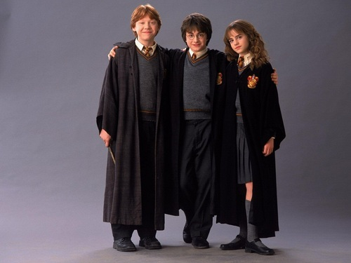 Harry, Ron and Hermione fond d'écran