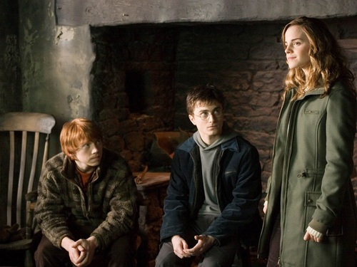 Harry, Ron and Hermione Wallpaper