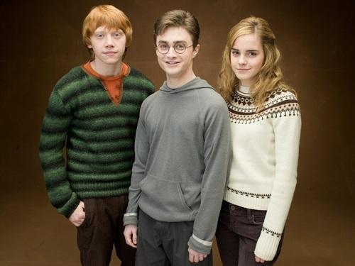 Harry, Ron and Hermione Hintergrund