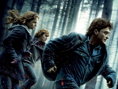 Harry, Ron and Hermione वॉलपेपर