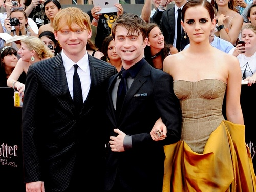 Harry, Ron and Hermione wolpeyper