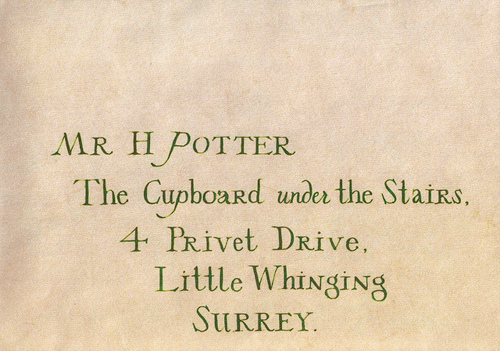 Harry's Letter From Hogwarts