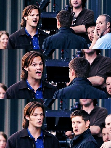 Jared and Jensen on set 7.04