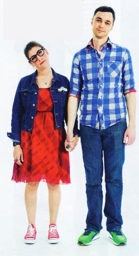 Jim Parsons & Mayim Bialik at Comic-Con