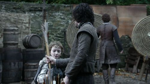Jon Snow and Rickon Stark