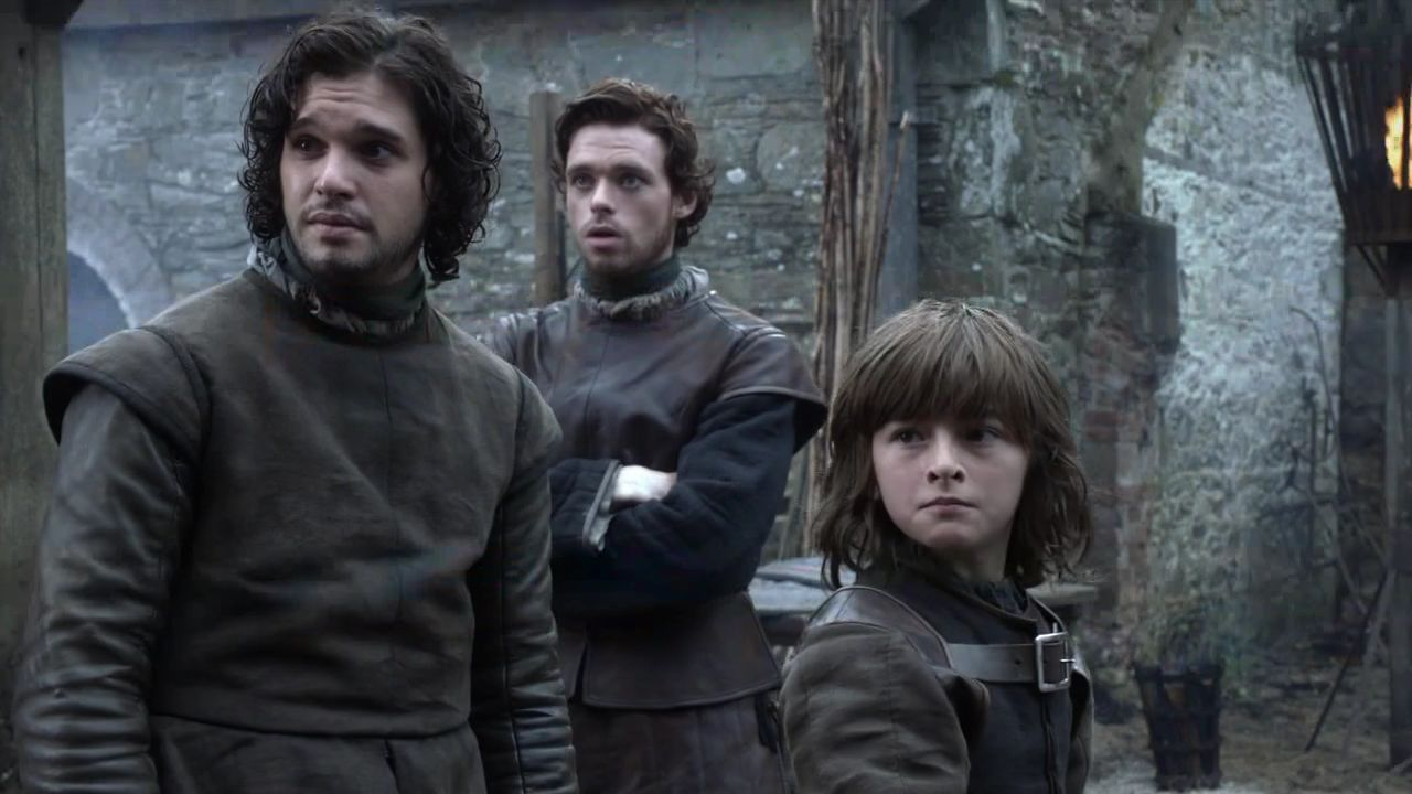 Jon Snow with Bran and Robb Stark