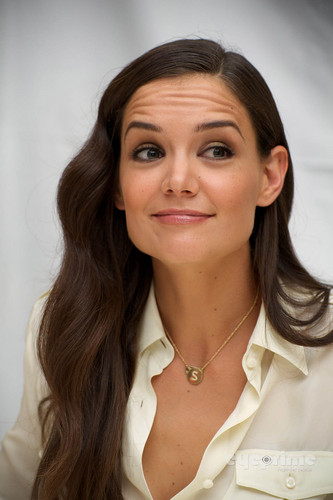 """Katie Holmes: """"Don't Be Afraid Of The Dark"""" Press Conference in NY, Aug 9"""