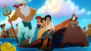King Triton, Ariel, Eric and Melody