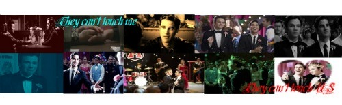 Kurt and Blaine prom banner