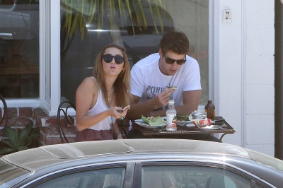 Liam & Miley out in Toluca Lake