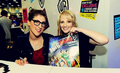 Mayim Bialik and Melissa Rauch at Comic Con