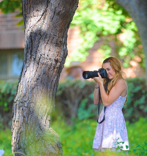 Miley - So Undercover - On Set - Shooting Extra Scenes at UCLA Campus - August 11, 2011