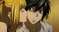 Misa Kissing L - misa-amane screencap