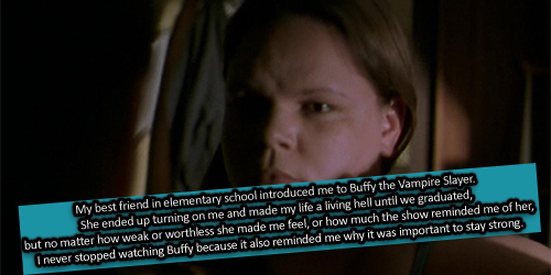 My favourite BuffyConfession so far...