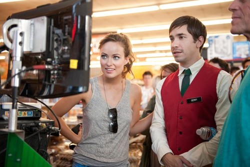 Olivia Wilde Directing 'Free Hugs' with Actor Justin Long.
