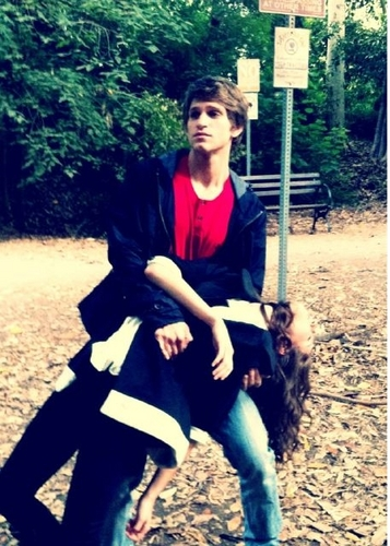 On set! :) - spencer-and-toby Photo