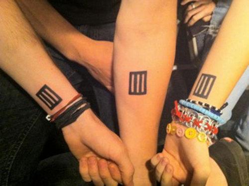 Paramore's Matching Tattoos