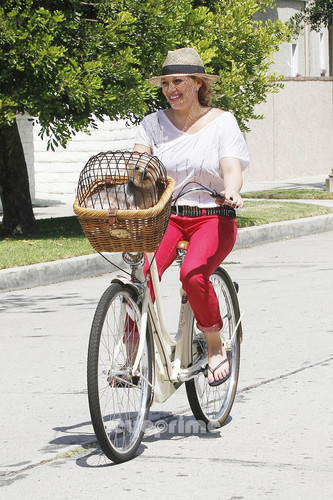 Riding Her Bike in Toluca Lake 12 08 2011