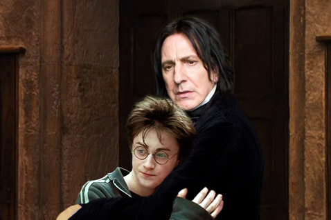 Severus Snape wallpaper entitled SNARRY HUG