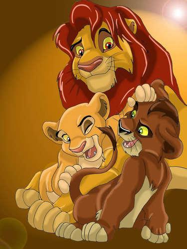 Simba, Kovu and Kiara