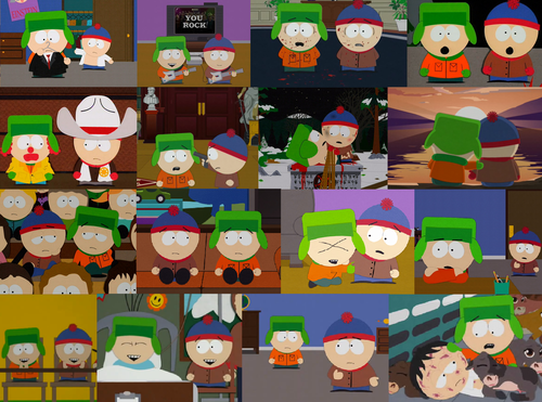 South Park kertas dinding called South Park Collage - Stan and Kyle