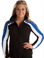 Sporty Fitted Warm-up Jacket
