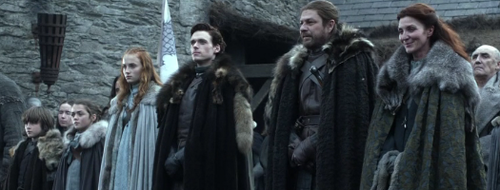 House Stark wallpaper probably with a cloak titled Stark family