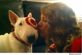 Taylor and the target dog!