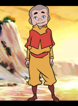 Avatar: The Legend of Korra wallpaper containing anime called Tenzin's son Meelo