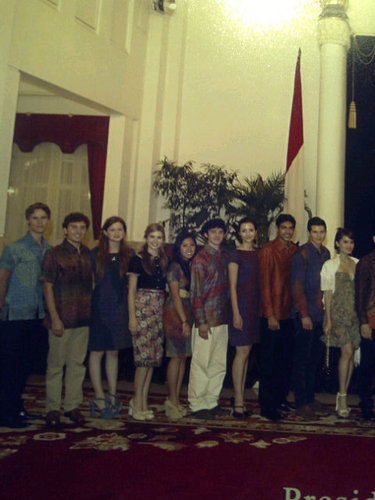 The Philosopher's Cast Meets Indonesia's President