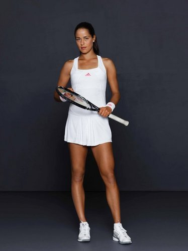 Ana Ivanović is Strong in White