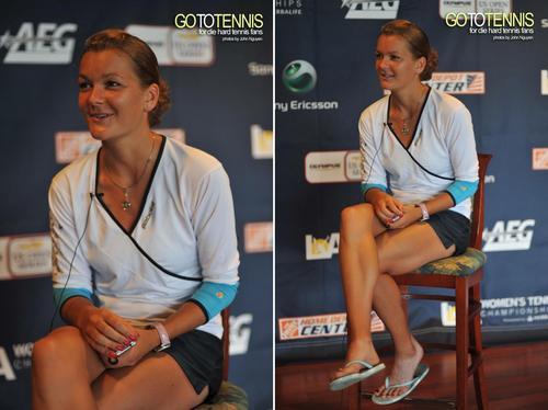Agnieszka Radwańska in Agi Talks tennis