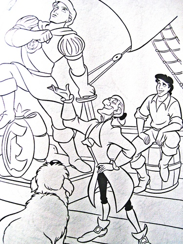 Walt Disney Coloring Pages - Max, Sir Grimsby & Prince Eric