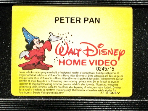 Walt Disney VHS - Peter Pan