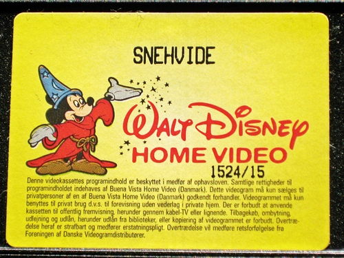 Walt Disney VHS - Snow White