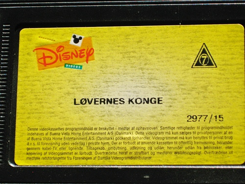 Walt Disney VHS - The Lion King