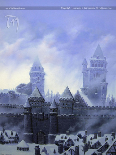 House Stark wallpaper called Winterfell by Ted Nasmith