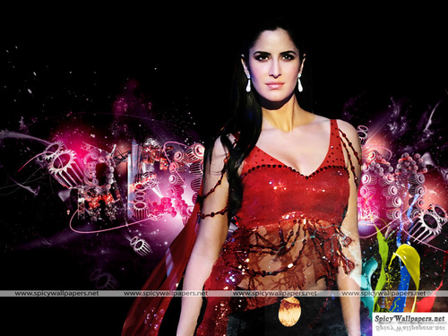 Katrina Kaif karatasi la kupamba ukuta possibly containing a chajio, chakula cha jioni dress and a cocktail dress titled katrina