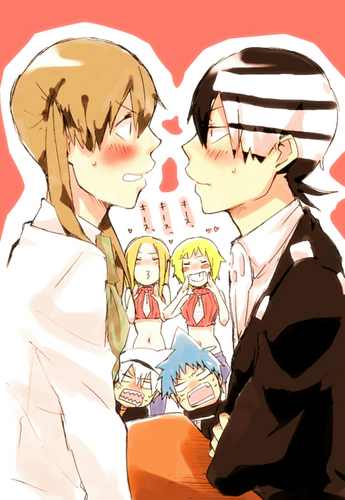 Maka And Kid Kiss Soul Eater images soul...