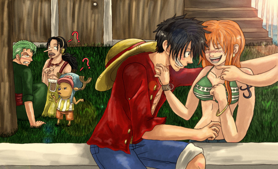 tickle fight - LuffyxNami foto (24517600) - fanpop