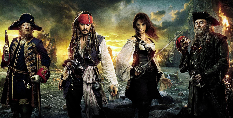 wallper POTC4 -Jack, Angelica, Blackbeard, and Barbossa