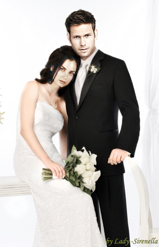 wedding photo of Alaric and Isobel