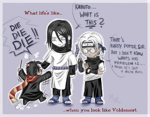 when orochimaru look like volmert in harry potter LOL