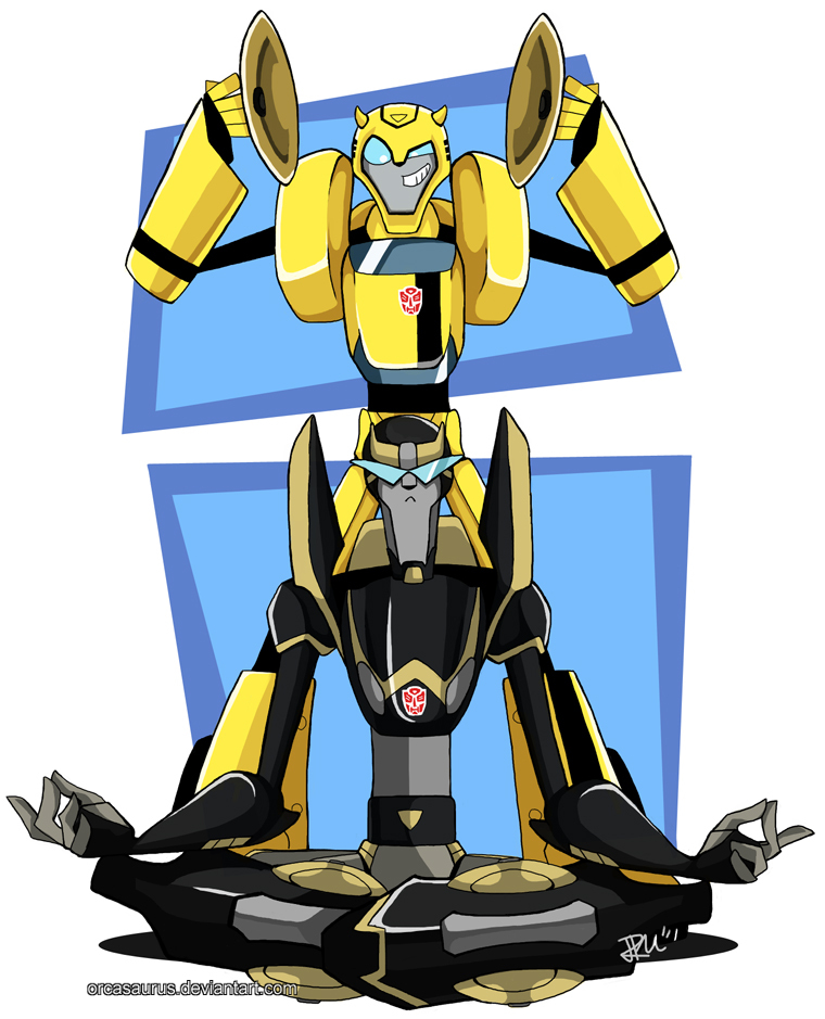Bumblebee Transformers Animated Bumblebee AND Prowl