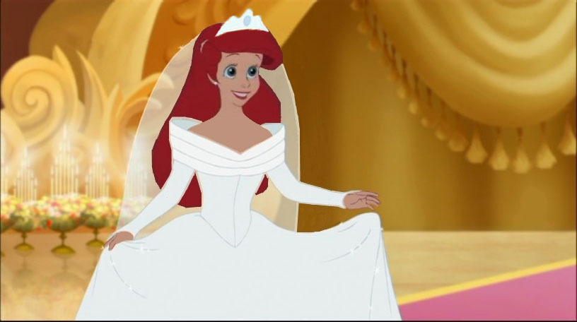 Team ariel only pick your favorite crossover outfit and for Cinderella disney wedding dress
