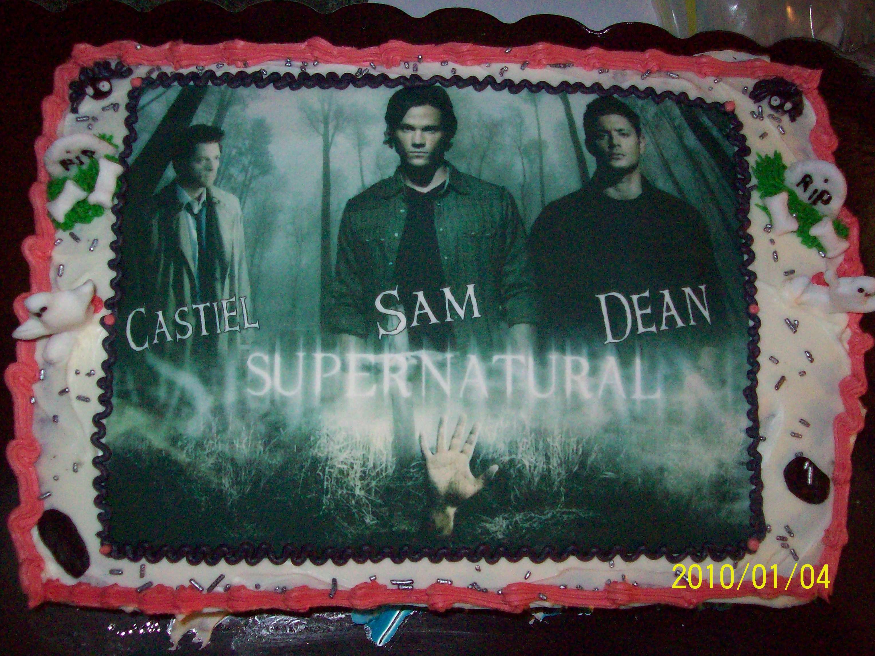 heres the new supernatural cake have a peek includes