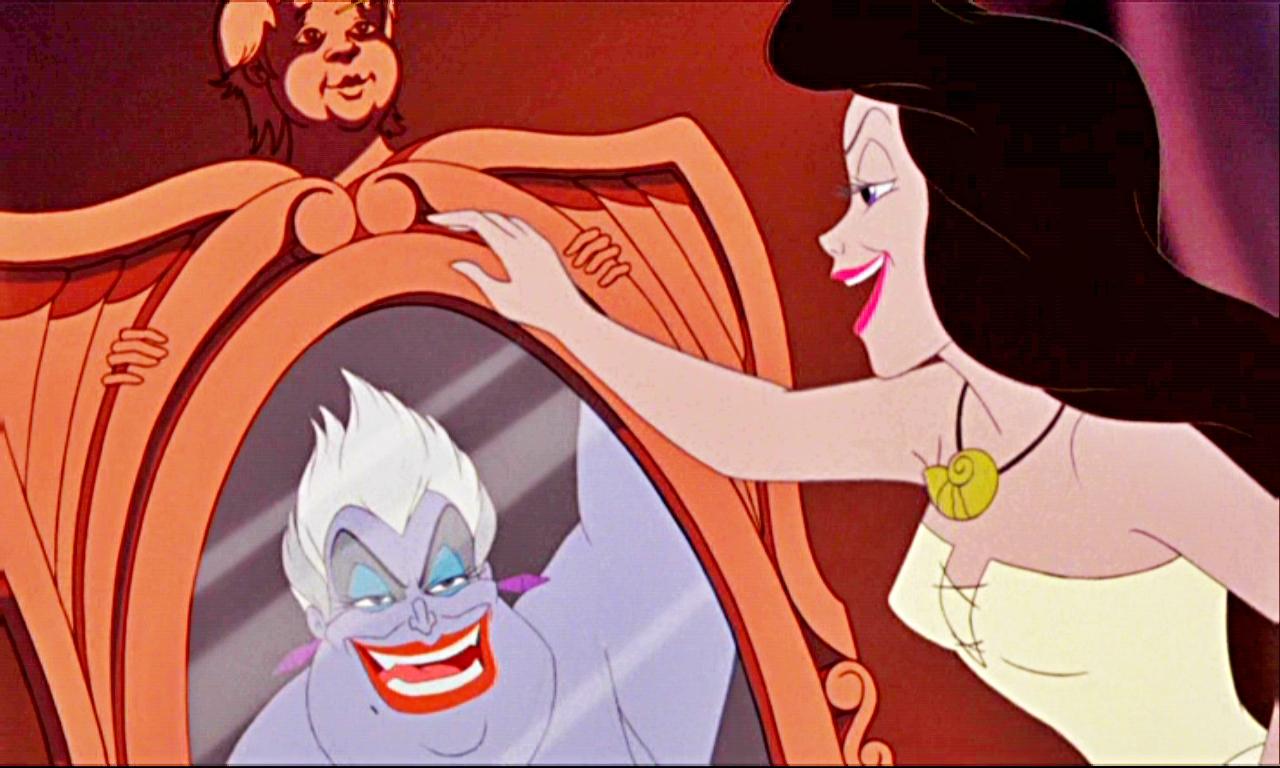 Princesses Disney Favori Scene With Ursula From The Little Mermaid