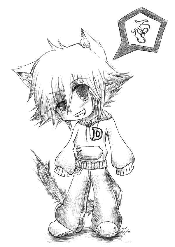 anime chibi boy coloring pages - photo#32
