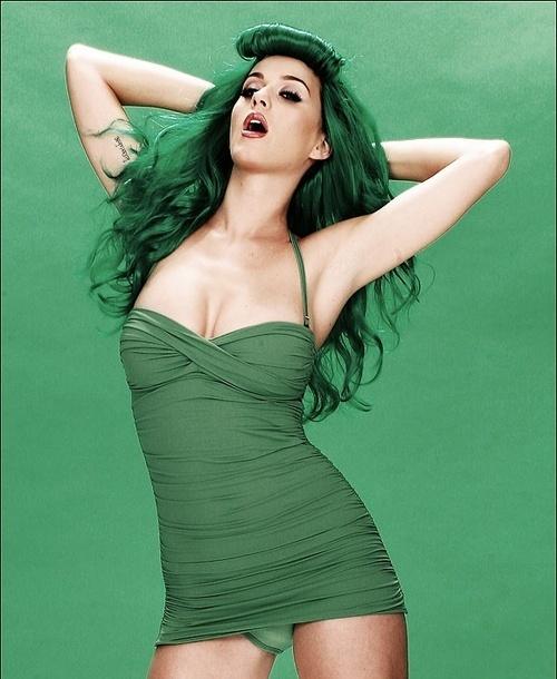 Katy Perry Green Dress